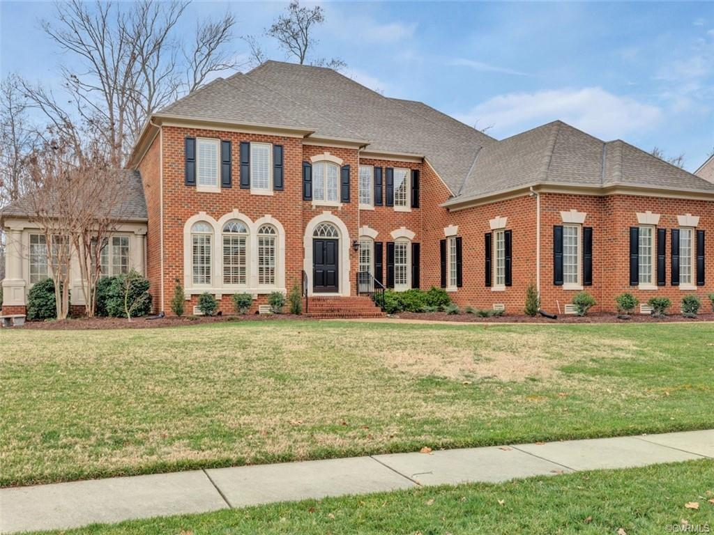 All brick estate sized Wellington floor plan features a 1st fl owner's suite w/dual access bathrooms & closets plus 4 addt'l bdrms upstairs all w/ensuite bathrms. Mbath has been remodeled & includes heated floors & beautiful free standing bath tub. Gourmet kitchen includes Wolf/Subzero appliances including 3 ovens, microwave & huge new island. Pantry w/built in storage & a 2nd full size refrigerator. Sunroom w/built ins & a wetbar w/Subzero wine refrigerator. 1st fl also offers large DR, FR, laundry & office w/glass pocket drs for privacy. 2nd fl expanded that has a large loft w/built ins & pool table, 3 addit'l bdrms w/private baths, a large media room, a workout/bonus rm plus an addt'l full bath w/heated floors & steam shower. 3rd floor expanded to include a huge 5th bedroom with private bath,closet & huge attic storage space. Upper level patio w/gas fire pit & grill plus a huge lower patio w/travertine pavers & a wood burning fire pit. Oversized 3 car garage has plenty of room for 3 cars/trucks & more. Surround sound in both FR & media room plus a Sonos speaker system throughout controllable by your phone. Private river access w/canoe/kayak storage at Tarrington riverfront park.