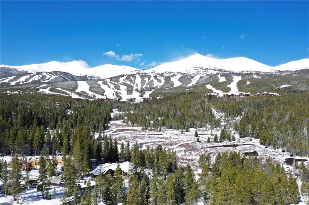 Aerial shot from the lot of the ski area views and Cucumber Gulch