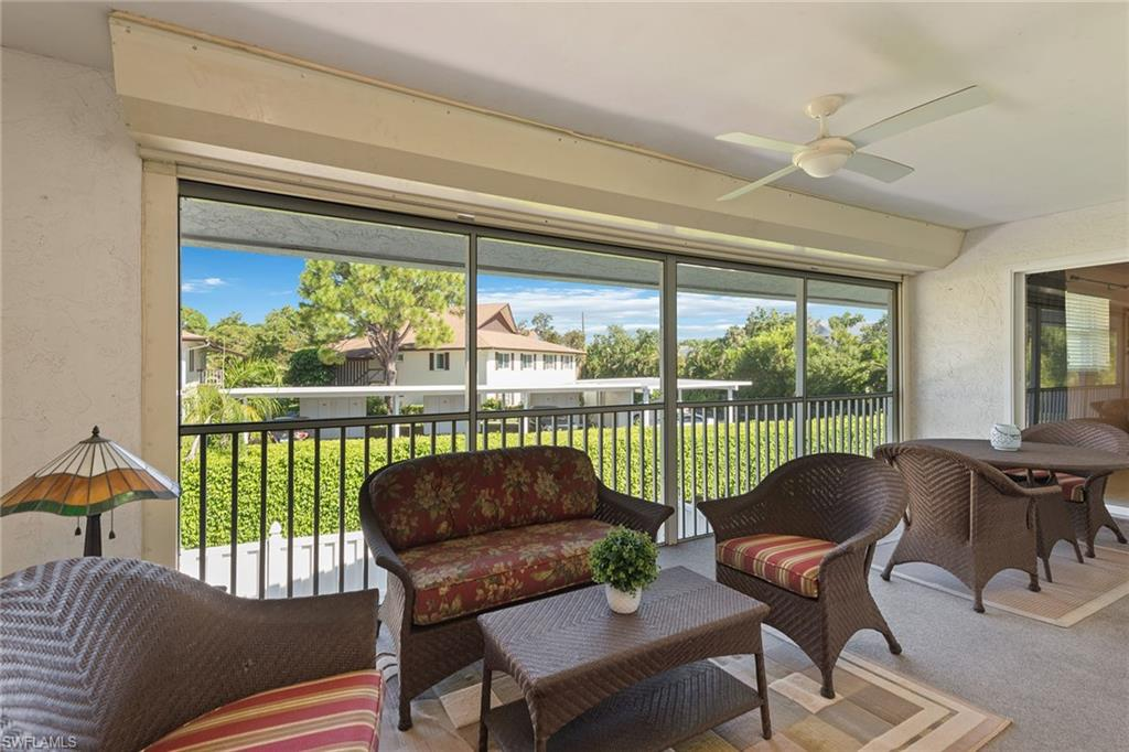 Lovely second-floor residence in a peaceful setting. Located West of Trail near shopping, restaurants and the Gulf of Mexico beaches. An over 55 community with a pool in the center of the complex. One covered, designated parking space. Membership is available to Park Shore Beach, which is only 4/10 of a mile from the condominium.