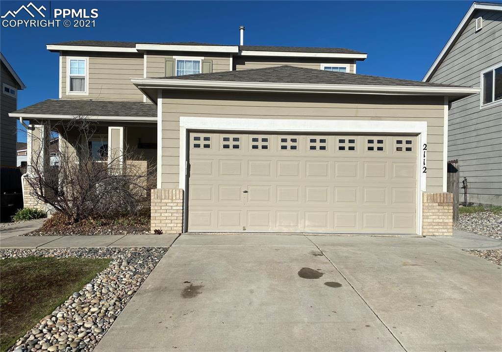 Come see this awesome home conveniently located to Schriever AFB. Boasting 3 bedrooms and 2 full baths on the upper level and a half bath on the main it is a great open floor plan to support its 1300+ SQFT. Step into your new backyard and enjoy a large covered patio with retractable shades for privacy. Extra from the main house is an exterior office with its own heating and cooling perfect for the self-employed or stay-at-home workers. A second outbuilding is negotiable with the sale. With a brand new King Soopers around the corner and a straight shot down Constitution to the Powers corridor, you are minutes away from all needed amenities.
