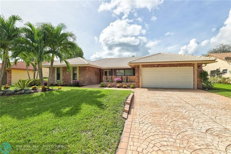 It's a great day to buy a home! Beautiful 4/2 pool home in highly sought after Cypress Lakes. This single story home features: 2003 Roof, 2018 A/C, Brand New 2020 water heater, accordion shutters, recently painted exterior, updated eat-in kitchen w/Stainless Steel appliances & Quartz counters, pantry, spacious family room, formal living & dining rooms, laminate & tile floors in living area, carpet in guest rooms, stacked bedroom floor plan, updated bathrooms, updated master suite boasts laminate floors, custom walk-in closet, walk-in shower & dual sinks, laundry room w/storage and screened-in/covered patio & pool. LOW HOA includes common areas! Close to top rated schools, shopping, dining & Sawgrass. Floor plan attached.