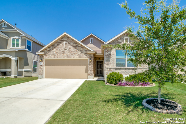 MOTIVATED SELLER! move-in ready home, greenbelt, minutes to Lackland, numerous upgrades: Solar Panels (Jun bill under $35- CPS Bill available);  Kitchen: Granite, 42' cab, Reverse Osmosis System,; Fridge remains; Water Softener; Whole yard irrigation system; hardwood floors thruout (no carpet) w/custom trim; custom patio w/rock wall and French Drain; whole house gutters; security system. Large pantry. Beautiful landscaping in front and back yards; This home has been extremely well maintained.