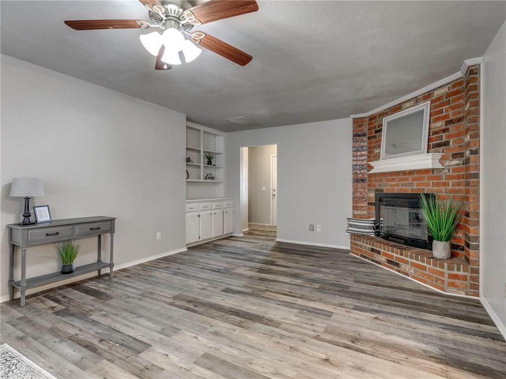 JUST LISTED! Updated 3 bed / 2 bath home in Sunrise Hills addition in Yukon by Route 66. Updates include fresh interior & exterior paint, brand new carpet & laminate wood floors, 3cm granite countertops w/ mosaic tile backsplash & new stainless steel appliances, new fixtures, hardware, LED lighting, & more! Master suite features 2 separate vanities with new granite countertops, 2x walk-in closets, & large tiled shower across from soaking bathtub. Secondary bedrooms & hall bath all share same hallway with master suite on one side of home. Inside laundry room has folding table & plenty of cabinet storage space. Backyard has wooden privacy fence all around & open concrete patio area. Home is located just south of Route 66 off S Yukon Pkwy with quick access to I-40 & Kilpatrick Turnpike. Schedule your showing today before this home is sold!