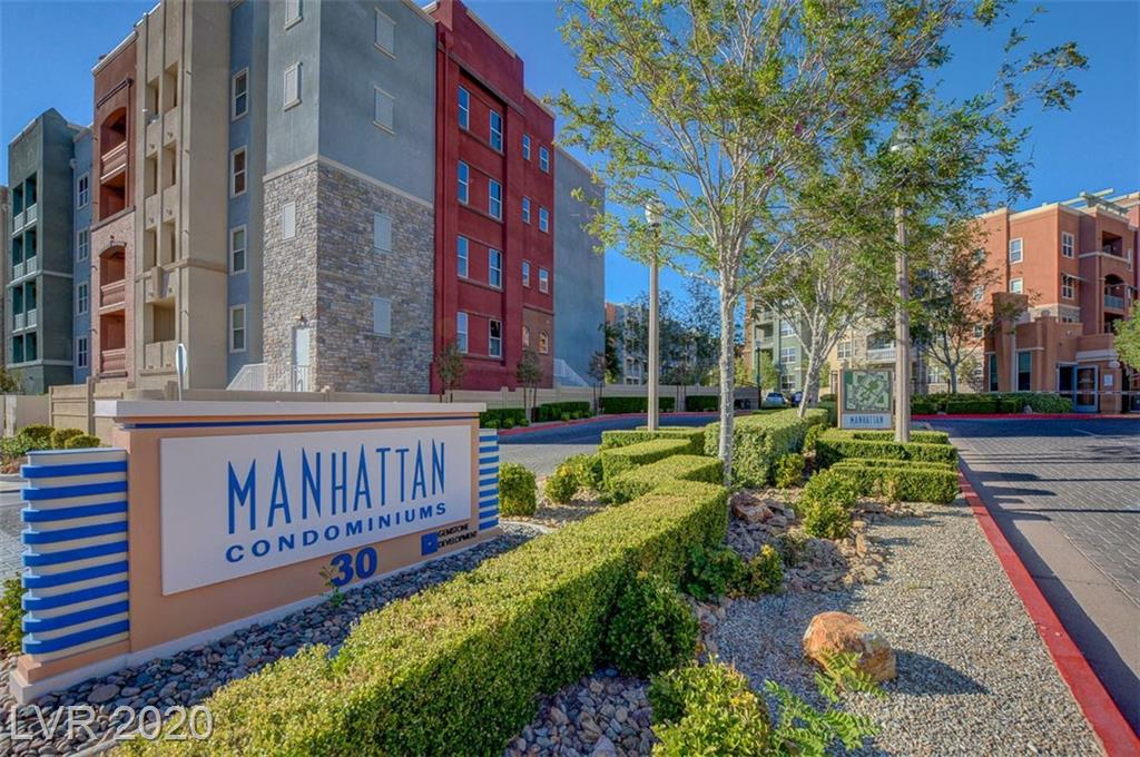 Terrific 2 Bedroom in Guard Gated Manhattan Condo's featuring Tile Flooring, Granite Counters, Stainless Steel Appliances, Open Floorplan. Community with tons of Amenities including Dog Park, Fitness Center, Multiple Pools, in 24 Hour Guard Gated Community just minutes away from the Las Vegas Strip.