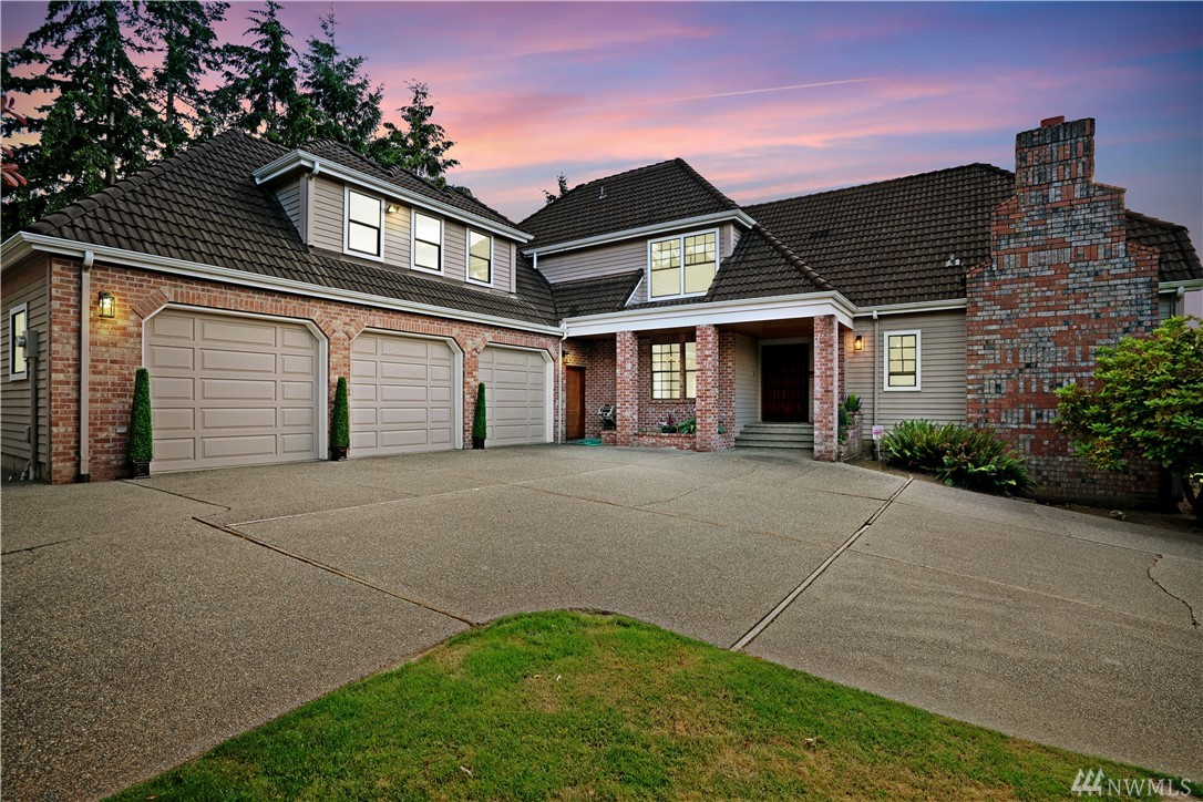 Along the King-Pierce County border, minutes from I-5 you'll find this Gem in a gated community of custom, luxury homes. With a super-size RV/boat garage, lake and mtn view decks & patio, sport court, sauna & spa-room; this solidly constructed estate is loaded with bonus details. Formal dining & living w/ built-in bars for entertaining; loft & large bedrooms up for quiet; Primary Suite has soaking tub, dual closets, fireplace & private deck! Close to shopping, restaurants, golf- Call this home!