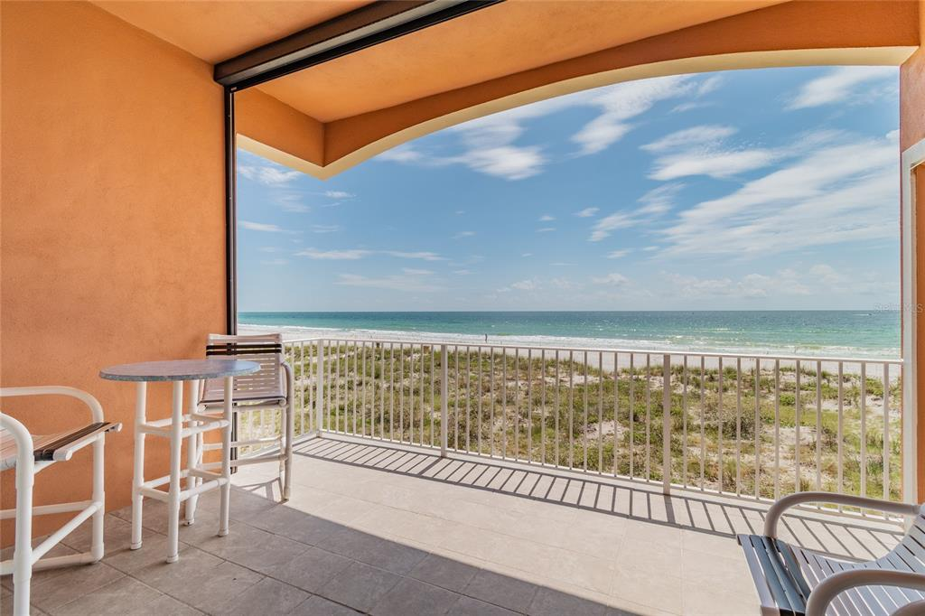 """THIS BEAUTIFUL, BOUTIQUE, GULF FRONT, OPEN FLOOR PLAN CORNER UNIT, 3 BED, 3 BATH """"ASTORIA"""" CONDO WILL NOT LAST! INCLUDES LIVING, DINING, KITCHEN, MASTER & LAUNDRY.  BOTH GUEST ROOMS HAVE THEIR OWN BATHS & THE PRIVATE 2 CAR GARAGE IS SURE TO PLEASE! THIS PREMIER RESIDENTIAL PROPERTY LIVES LIKE A HOME AS YOUR PERMANENT RESIDENCE OR AS A VACATION HOME, YOU WILL BE ALL SET! BEAUTIFUL BUILDING WITH UNITS COMPLETED 2018/2019. 2,000 SF OF AMAZING VIEWS & PORCELAIN TILE FLOORING THROUGHOUT. THE LARGE, MODERN WHTIE KITCHEN HAS PLENTY OF CABINETRY & QUARTZ COUNTERTOPS! LARGE BALCONY OVERLOOKS BEAUTIFUL AQUA WATERS & WHITE SAND. REMOTE CONTROLLED SCREEN FOR TOTAL INDOOR/OUTDOOR LIVING! THIS TURN KEY LUXURY CONDO COMES WITH NEW HIGH END FURNISHINGS. A HUGE MASTER RETREAT FEATURES A WHOLE WALL OF WINDOWS TO ENJOY YOUR OUTSTANDING VIEWS. RELAX IN AN EXTRA LARGE BATH WITH A WALK IN GLASS SHOWER, SEPARATE WATER CLOSET & SOAKER TUB. GREAT LOCATION ALLOWS WALKING TO RESTAURANTS & JOHN'S PASS! GATED CONDO BUILDING WITH ENCLOSED 2 CAR GARAGE FOR OWNERS MAKES THIS A SAVE PLACE TO LIVE! INCLUDES COMMUNITY POOL, FIREPIT AREA AND IT'S A PET FRIENDLY BUILDING."""