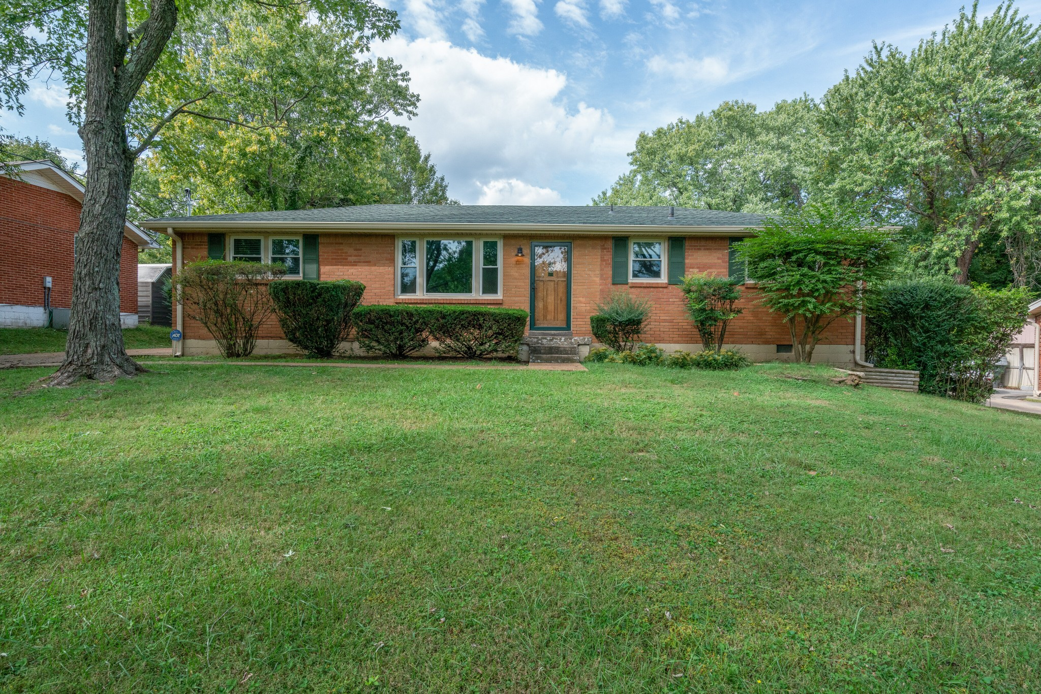 Fantastic location, Fantastic Neighborhood. This lovely south-facing 3BR and 1.5 BATH ranch-style home sits on a huge lot and is just a few yards away from Nolensville Pike. All brick exterior. Covered Rear Patio. Storage Shed. Don't miss this opportunity!