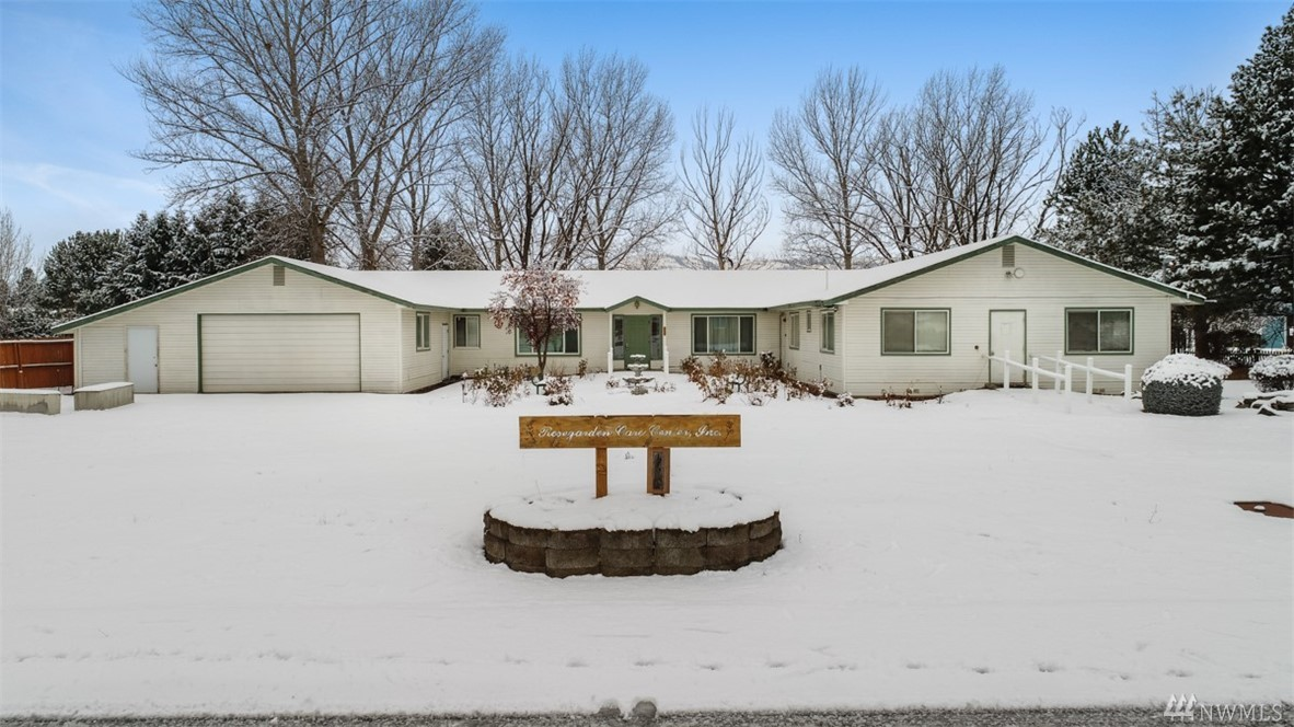 "Former assisted living facility with disability access. 6096 square feet and 25,265 square foot lot. Home was licensed for 23 beds. 12 bedrooms with bathrooms plus 3 additional beds/2 bath living quarters for caregivers. 2 kitchens and one with full commercial appliances.  Attached garage plus storage room. Large lot fully-fenced with sprinkler system. SOLD ""AS ­IS""."