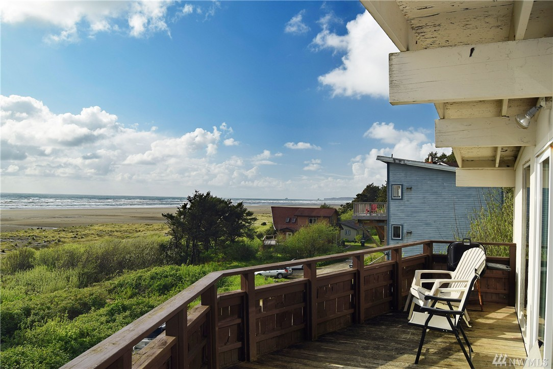 Awesome Ocean Views! View home in the best location on the Pacific Beach and Moclips oceanfront in Washington. This awesome home has incredible views that will last forever. Walk to the beach from this location and enjoy surfing, kite flying, clamming, and fishing. The house has an upper and lower living area both with kitchens, bedrooms, and bathrooms. Hot tub is installed and is a great bonus if you want to rent out the house nightly. A great occupancy rate is already established!
