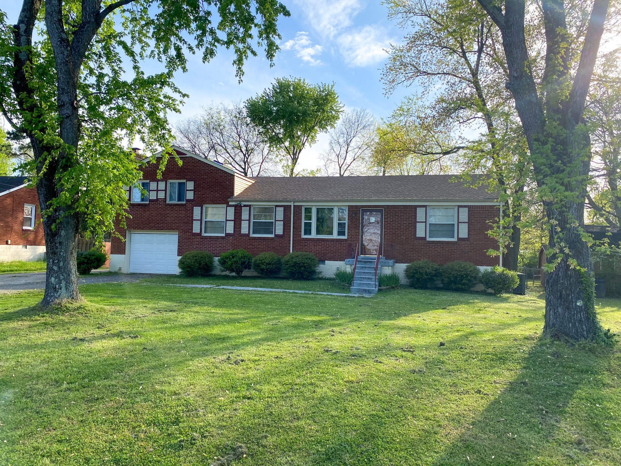 R10 zoning. Full brick house with large yard. Four bedrooms, 2.5 baths. Roof replaced 2019, fresh paint. One car garage and 3 car carport.