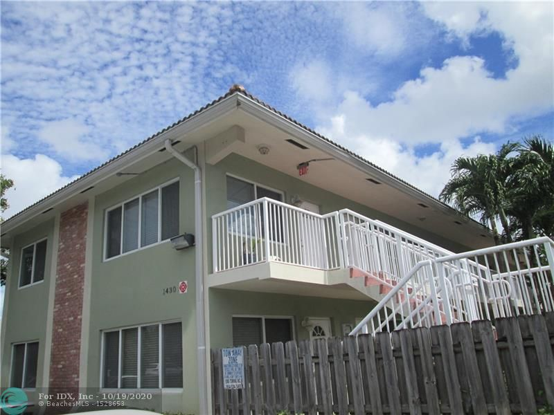 Stylish and sparkling clean 2/1 condo nestled in treetops in a small Key West style secure pool complex located just seconds from Wilton Manors nightlife, downtown, the burgeoning 13th St corridor and the beach! The home offers granite counters, wood cabinets, stainless appliances, tons of impact windows offering lovely views and a second door entrance from the guest bedroom. Pets allowed and laundry facilities are onsite. Perfect for end user or investor. Long term tenant in place! Truly a must see!