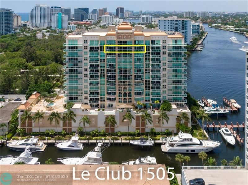Sub-penthouse with spectacular views of the Intracoastal Waterway, Ocean, Birch State Park, and Coral Ridge Yacht Club. Two master suites, private elevator, floor to ceiling high impact windows, multiple walk-in closets, two (2) garage parking spaces, large storage room, laundry room with full size Samsung washer and dryer, and beautiful marble floors (except bedrooms). Gourmet kitchen with granite counters, wood cabinetry, and SS appliances. His/Her master bathroom suites with bidet, Jacuzzi whirlpool tub and large frameless glass shower enclosure.  Le Club Residents' 4th floor feature a pool, whirlpool spa, cabanas, state of art exercise room with men's and women's facilities, spacious party/social room overlooking the private marina. A 60' BOAT SLIP IS AVAILABLE FOR SEPARATE PURCHASE.