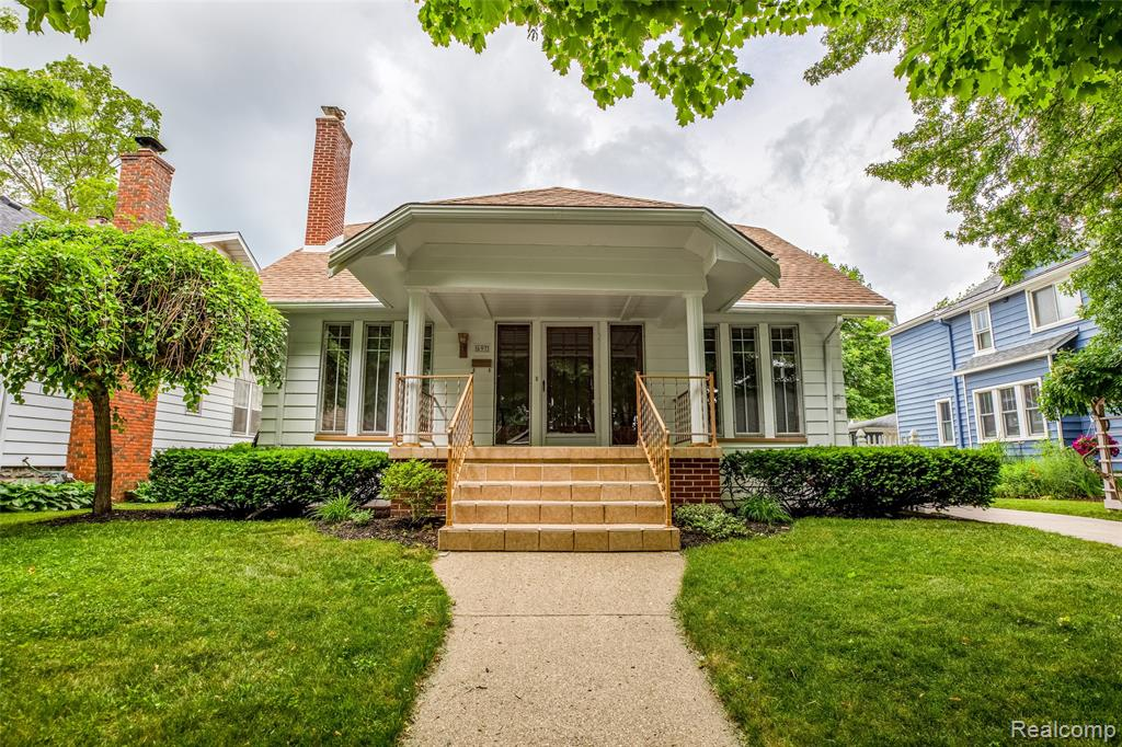 """""""All the charm of 1922"""" This 4 bed/2 bath 2 story home (1954 sq.ft) offers a 3 car garage and all in the city of Plymouth. Inviting covered front porch- then enter into the spacious bright & cheery LR w/ FP and opens to fab formal DR. The kitchen is large w/ plenty of cupboards and Corian counter space, plus breakfast nook. Library w/ built ins, Master bed, 2nd bed and full bath complete the main floor. 2nd floor w/ 2 bedrooms plus- extra fun open space and full bath. The finished basement offers a great rec room, storage, large laundry area, work area plus glass block windows. 3 car garage w/ upper loft, and newer driveway, newer stainless chimney liner, newer roof, rear screen porch, most newer windows, HW under carper on main floor. Loved and maintained for over 40 years!! Welcome home !"""