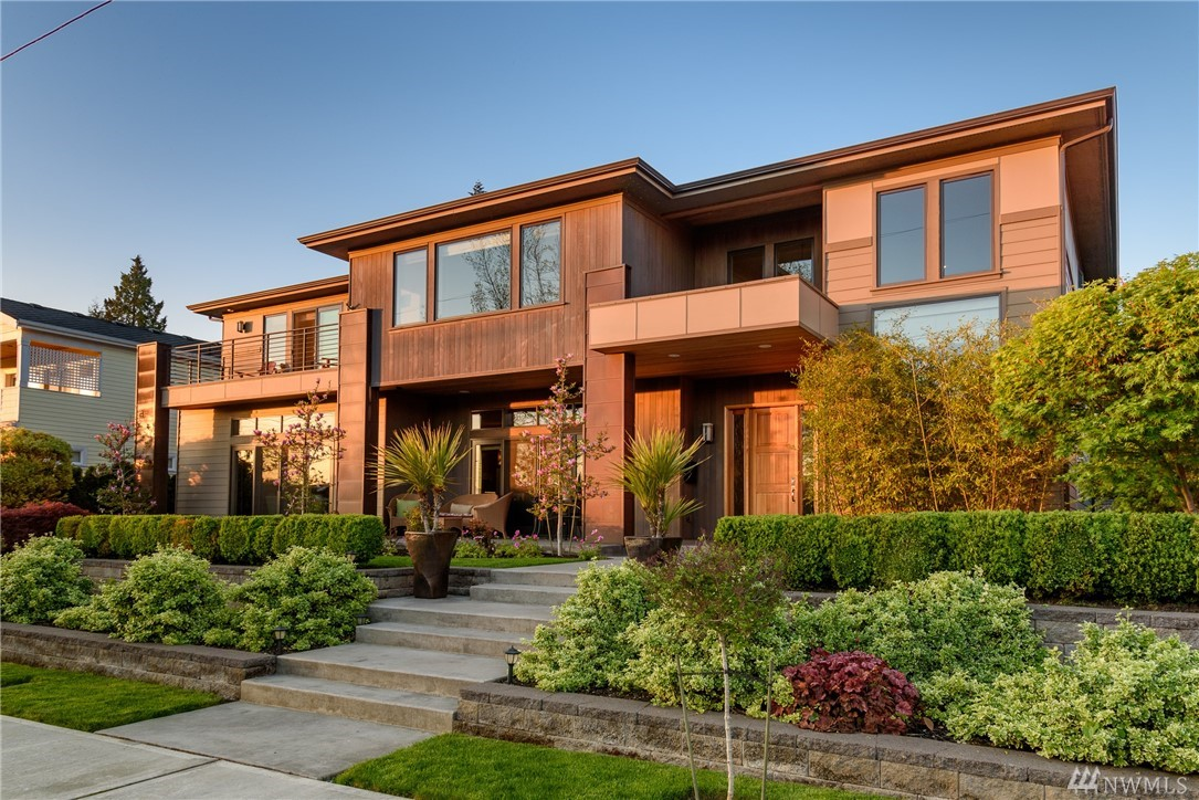 Stunning NW Contemporary with an unmatched level of craftsmanship & attention to detail. Custom built on a gorgeous 85'x115' lot in coveted West of Market. Sweeping main floor footprint is an entertainer's dream...and the antithesis to vertical living. Natural materials of Cedar, copper & steel paired w/ inviting spaces & luxe amenities. All bedrms + large flex rm on upper level. Southwest orientation. Easy stroll to beaches/parks/downtown. Private backyrd w/ hardscape, lawns, gardens. 4car gar.