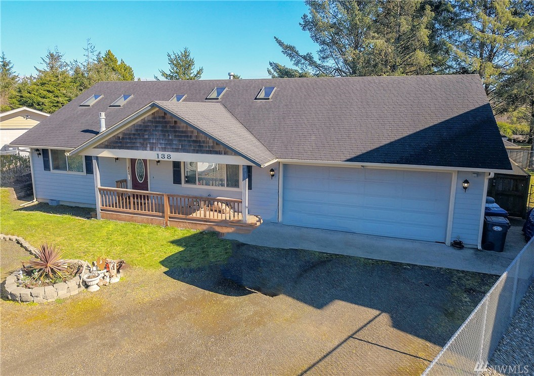 Custom home close to the beach and downtown with all the great amenities Ocean Shores has to offer. Located on a quiet cul-de-sac, this was originally built a well established local builder. The house has many features and upgrades including seven skylights, hot tub, guest house, designer lighting, outdoor covered areas, awesome fire pit, stainless steel grill, full RV hookups, and much more than can be listed.