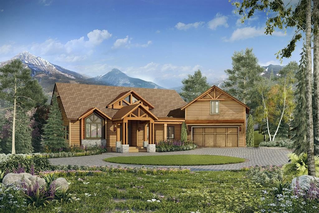 Perfectly placed on this ski-in, ski-out lot, this home will have huge views of Lone Peak out the great room windows and from the over 1,300sq.ft. of outdoor living spaces. Timbers and real stonework will highlight the features of this home giving it the true rustic mountain retreat feeling. Two bedrooms and a bunk room, along with a large game room in the lower level, will be the perfect place for kids or large groups to gather. The main level holds the master bedroom with his and her walk-in closets, a great room with rock fireplace, additional living room and kitchen and dining area. Above the garage is a separate living quarters with kitchen area for a caretaker or private apartment. The outdoor areas are covered so they can be enjoyed year round. Lucious landscaping surrounds this well thought out home on the end of the cul de sac.