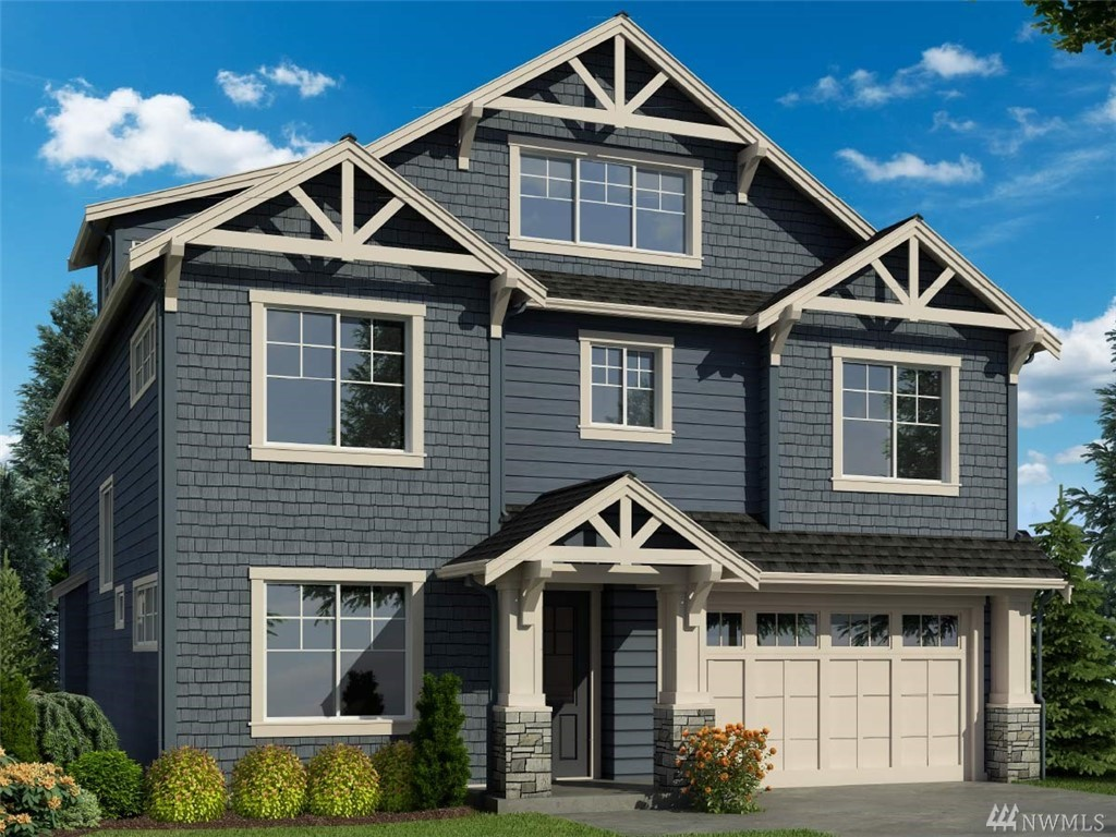 "Lot 175 Greystone IV!! This home features 4 bedrooms, 4 bathrooms, den, rec room, designed for today's lifestyle! Standard features include stunning slab quartz in kitchen and baths, innovative Kitchen-aid appliance package, 7"" wide plank floors, 8' doors, mud set shower pan and tiled bath wall in master. Full wall of windows allow for natural light! Covered patio overlooking park! Beautiful community with several parks and trails in Tech heavy Redmond corridor !!"