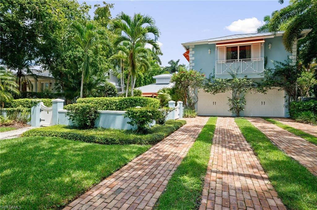 """H.16182 - """"KAY's BEACH HOUSE"""". Located in the prestigious 100 block on a beautiful, lush tree-lined street sits this quintessential Old Naples beach-area """"cottage"""" - a charming 2-story home lovingly renovated & updated over the years.  Wood beams, tongue & groove paneling, bamboo flooring, and Chicago brick all add to the quaint charm & character of this 5 bedroom / 5.5 bathroom home (all 5 beds have full en suite baths).  Large open patio & pool-area invite backyard BBQ's & fun pool parties!  Situated only 5 houses from the beach & backs up to a quaint Old Naples alley.  New metal roof in 2019. *SOLD COMPS ALERT: TWO 2020 closed sales nearby on 2nd Ave. N. - both for $4.6M per! *Additional information / disclosures / sale comp info. available for review. *Property to be sold in """"AS-IS"""" condition with right to inspect."""