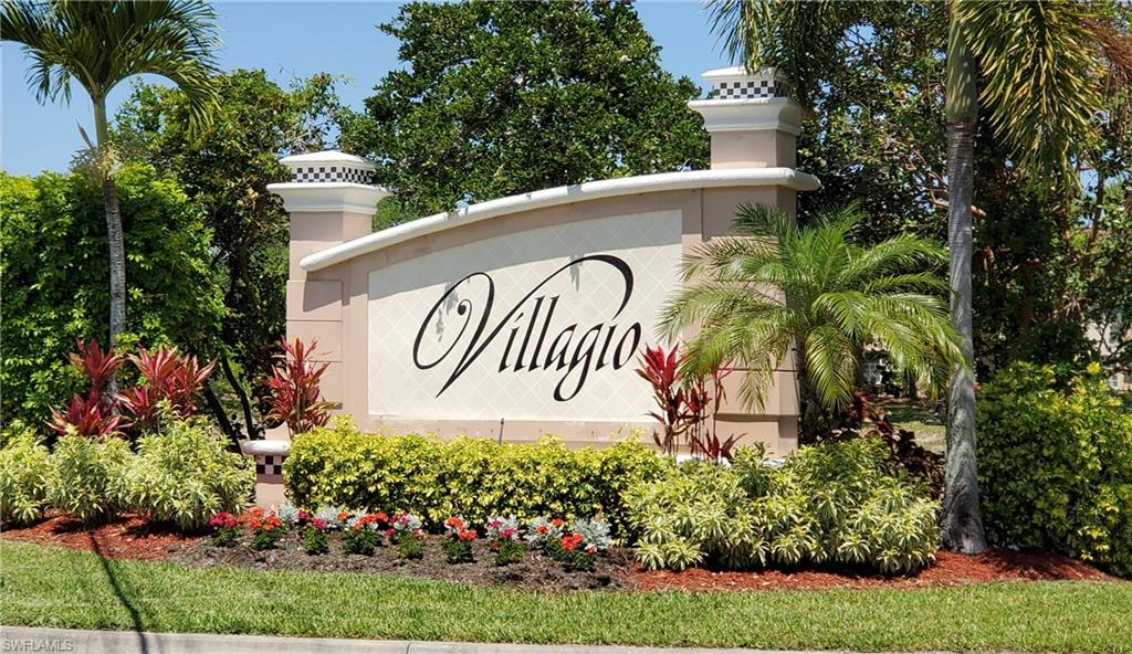Villagio offers resort-style amenities with two pools and a hot tub, exercise room, tennis and pickle ball courts, library, Café open 7 days a week and a cinema with free movies for residents.  Monthly HOA fee includes basic cable, high speed internet, and water. Villagio is close to Gulf Coast Town Center,  Coconut Point Mall, Miramar Outlet, University Village, FGCU, RSW Airport, and Hertz Arena.  A great Estero location.