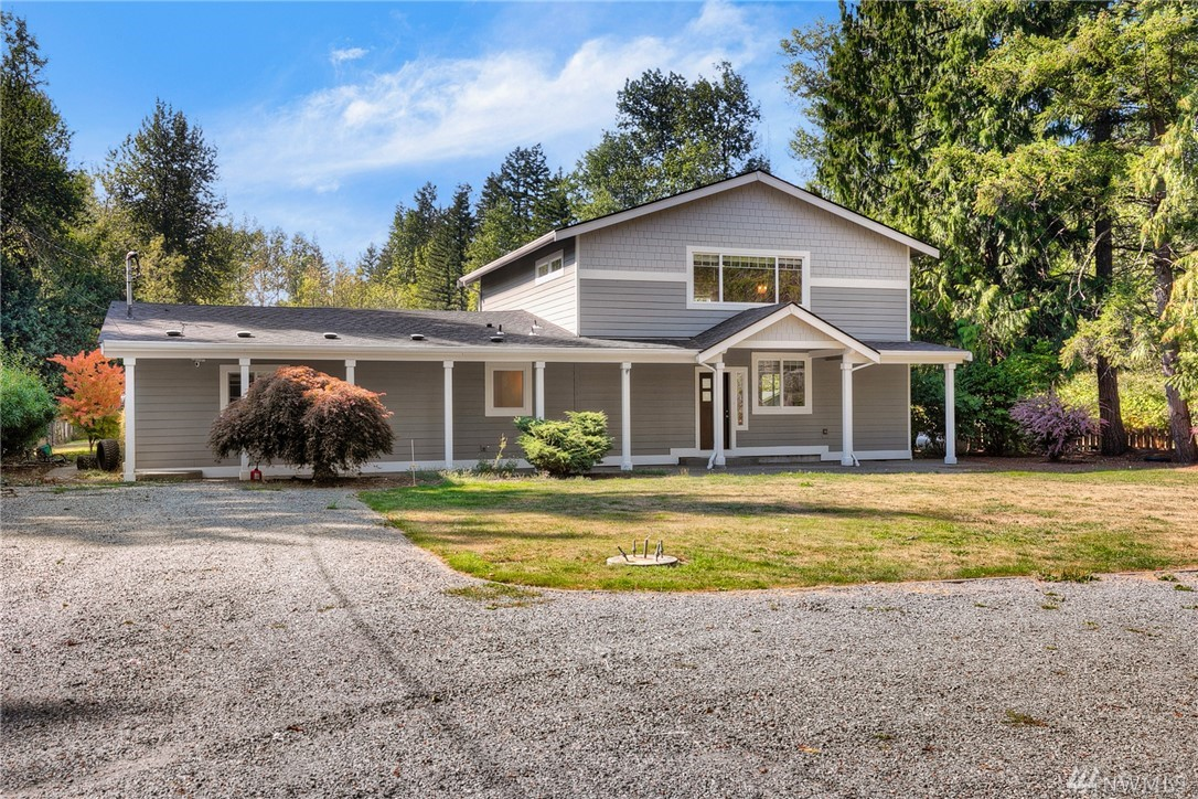 Excellent opportunity! 3461 SF home on private 4.93 acres! Fully fenced, nice level yard. Tons or room for RV parking and all your toys + sport court. Recent updates throughout - laminate HW floors, designer paint colors and open floor plan. Kitchen appliances included. Master, Den & extra finished room on Main! 2 beds, Bonus Rm & utility on upper. Master w/private bath & FP. Needs new septic and drain-field - CASH or 203K loan only. Buyer to verify all info to own satisfaction.