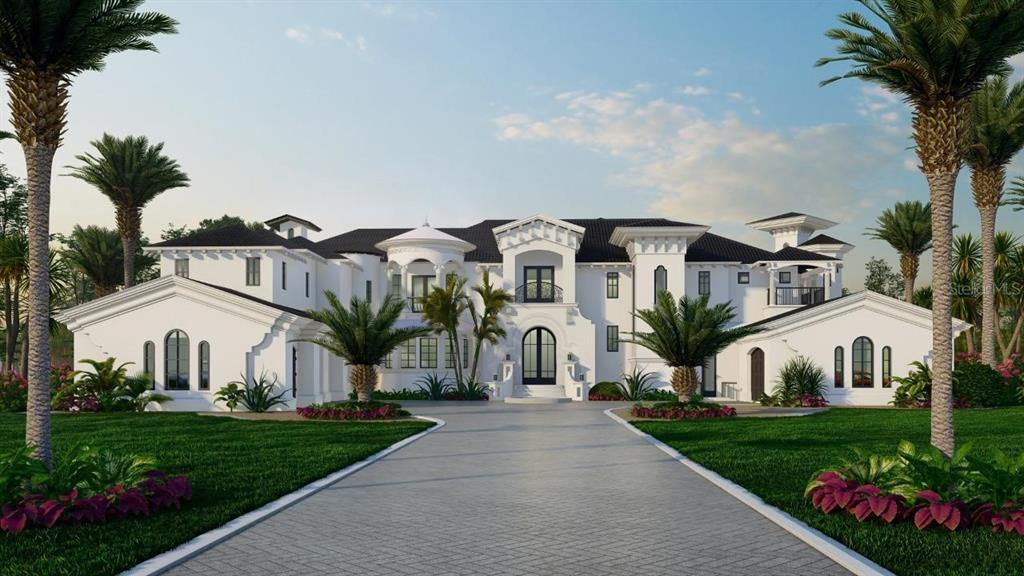 """Pre-Construction. To be built. COME HOME TO A DREAM!! This Beautiful Mediterranean Transitional Castle is being built in lovely Lake Down Reserve neighborhood in Windermere, Florida. This home is designed and built by Supreme International Construction a reputable builder in Central Florida, who is well known for Luxury Custom home construction with creative designs and quality Building. He is building Three Homes in the same neighborhood and all of them are unique in Architecture and Construction type. All Homes are Smart and energy efficient. This subdivision has only 10 luxury Homes and this is the last lot available. This dream home consists of 7,940 Sq. Ft. heated and 11,337 Sq. Ft Under Roof, 30,355 Sq. Ft Lot (.69 Acre). Offering 5 spacious bedrooms plus an office, 6 full bathrooms, 1 Half Bath, 1 Powder Bath, movie theater, Sunken gym/yoga room oversized 4 car garage, elevator, and so much more! This 7,940 Sq. Ft masterpiece boasts exquisite high-end finishes throughout. The Gourmet kitchen has subzero appliances. Home has an amazing entertainment space with the remarkable custom pool/spa along with Sunken outdoor kitchen. The Home also features hurricane impact windows, custom-designed California closets throughout all bedrooms, Heat & Glow fireplaces in the living room, and the master bedroom along with large format porcelain tiles throughout the bathrooms. Offering a scenic and private setting with a 24 hr. """"virtual guard"""", the lovely Lake Down Reserve neighborhood is in Windermere, Florida. This subdivision is located across from Isle worth home for many sports man and celebrities. Windermere Florida is truly a family dream location. Featuring The Butler Chain of Lakes, considered one of Florida's Outstanding Waterways, consists of eleven interconnecting pristine lakes ideal for all water sports. Lake Down Reserve is close to downtown Windermere offering year-round activities and a weekly Farmer's Market. A-Rated schools, parks, and playgrounds are also """