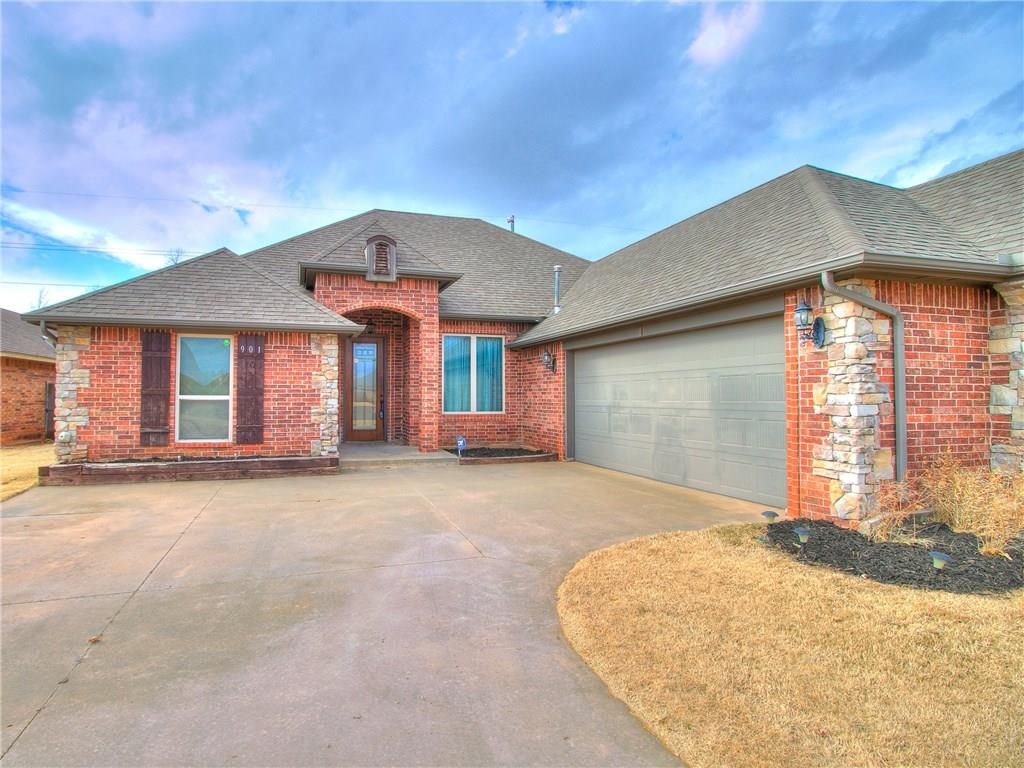 Beautiful 3 bedroom, 2 bath home with great curb appeal! Nestled in a quiet neighborhood close to schools, walking trail, and park. Nice sized bedrooms plus a dedicated study. Safe room in garage. Enjoy the privacy of a split bedroom plan. What a house!