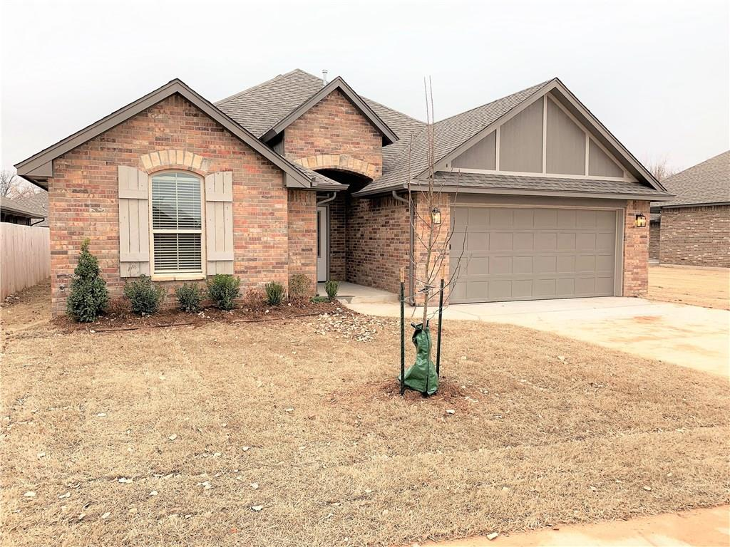Welcome home to a property full of UPGRADES and QUALITY build! As you walk through the door you are greeted with WOOD-LIKE tile, a BARN DOOR, and a row of cabinets for extra STORAGE. Your barn door will lead you into the utility room with a SINK. The OPEN-CONCEPT kitchen is perfect and compliments the living area with a CUSTOM FIREPLACE. The kitchen features a CORNER PANTRY, coffee-bar area, GAS range, an UNDERMOUNT sink and granite tops. The master is situated at the back of the home and has a wonderful en-suite featuring: DOUBLE VANITIES, a LARGE SHOWER with a seating BENCH, a DEEP JETTED tub, LINEN cabinets, and a walk-in closet with 2 vertical shoeboxes to hold several pairs of shoes! One of the guest rooms has a WALK-IN closet. The OVERSIZED and covered PATIO will be the perfect place to relax from a long day. Mature trees all around you! Call today for your private showing!