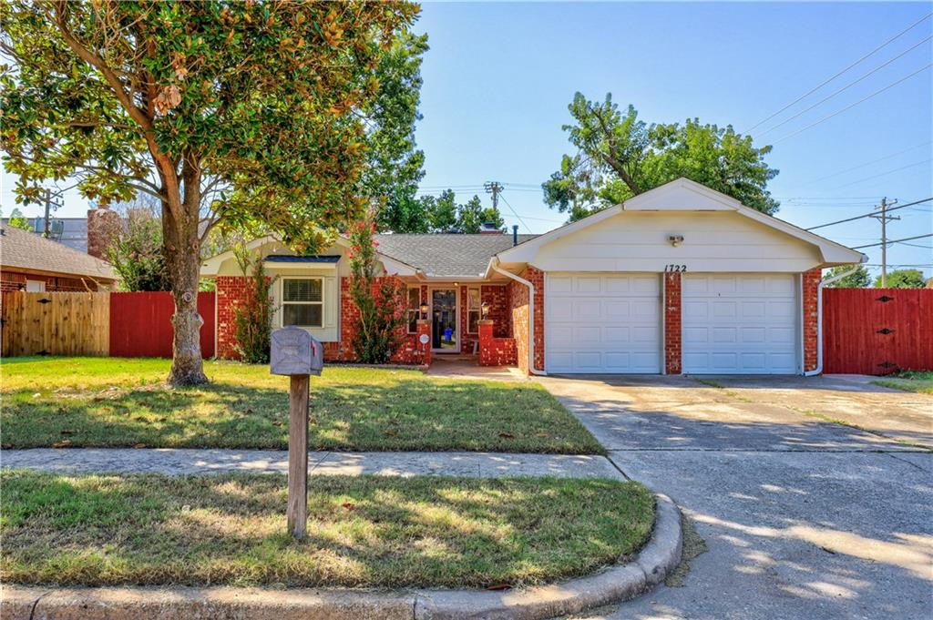 Wonderful home in central/West Norman- MOVE IN READY! Three bedrooms, one and 3/4 bathrooms, two car garage, welcoming front porch and spacious entry! Updated windows, HVAC new in 2017,hot water heater replaced in 2019, Roof and gutters new in 2019! Fresh exterior paint! This home has a spacious backyard with a large patio, a couple of beautiful matured trees and new (2020) privacy fence! Storage and closet space is plentiful throughout! Built in bookshelf around the fireplace and vaulted ceilings in the living room! This well maintained home sits on a corner lot but on a cul-de-sac street. Conveniently located to OU, restaurants, shopping, gyms, schools, urgent cares, Highway 9 and I-35! Schedule your showing QUICK!    Buyer to verify all information.