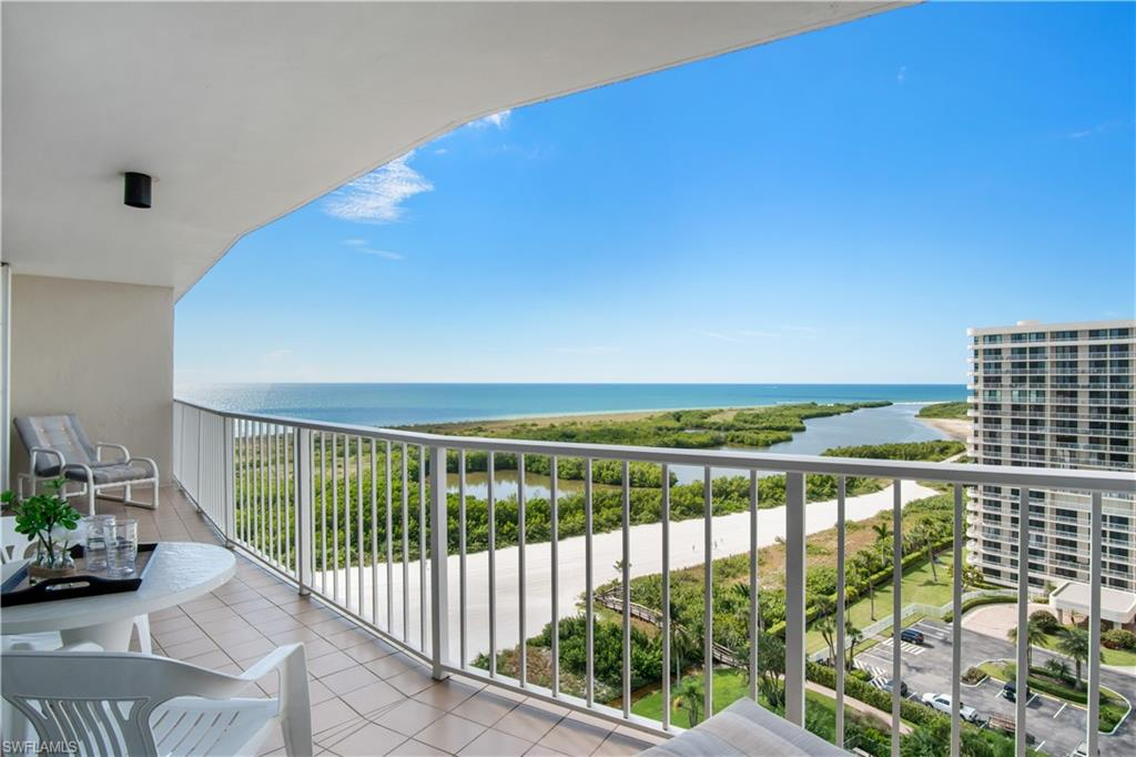 This view is simply the PERFECTION! One of those romantic views that everyone remembers for the rest of their lives... Clear blue Gulf waters from the expansive open balcony, pure white sand, protected mangroves and most importantly the daily end-of-a-day gift - famous Florida sunsets. Large sliders in each and every room provide panoramic views and pull natural light deep into your home. With 2 bed 2 bath, open kitchen/living layout this home has been designed for peaceful and intimate gatherings by family and friends. South Seas complex offers a tropical island lifestyle with beach and bay access. Enjoy the wide sugar-like sand beach famous for shelling, relax at your beachfront pool & spa, play tennis, pickleball, bocce, shuffleboard or gather with friends for a sunset happy hour! Want to spend a day on the water? Kayak racks and boat slips are available for lease. This is a wonderful opportunity for beachfront living at it's finest!