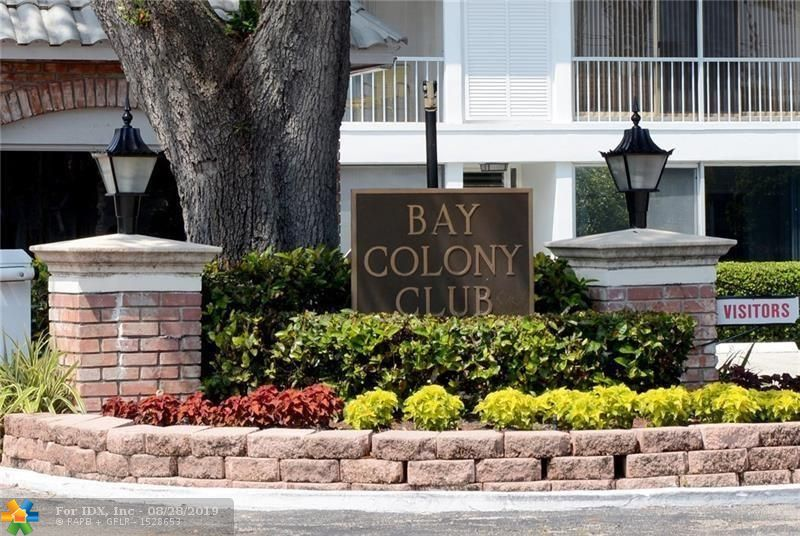 Amazing and bright 2 bed 2 Bath Condo at exclusive Bay Colony Club located on ICW.  Docks are available at the lowest price of $1.50 per Foot paid quarterly with No Fixed Bridges just off the ICW. Beautiful Kitchen, Stainless Steal Appliances and granite counter tops. Tile floors.  Screened Patio. Unit has plenty storage space with a nice walk-in closet and Reach-in closet in Master room and one extra large storage closet. One reserved parking spot with plenty of guest parking. Community offers 24 hour gated guard security. 4 pools, 3 recreation centers, an outdoor kitchen area overlooking the Intracoastal, 6 tennis courts, 2 Gyms & a Basketball Court.  Excellent location just East of US1, close to beaches, restaurants, shops.  Great for Investors, no rental Restrictions.