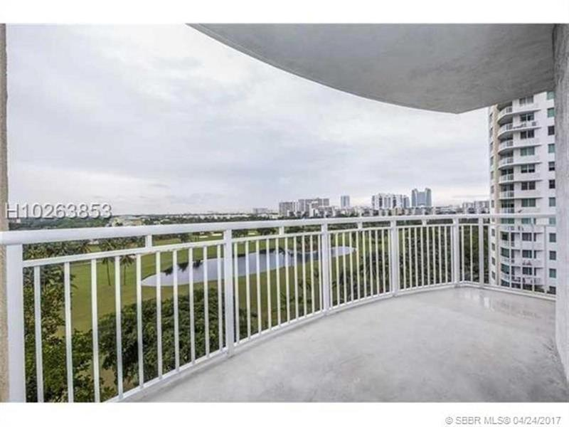Another Nice Property Just Listed t!!! Beautiful high-rise condo in the heart of Hallandale. The condo features marble and wood flooring, open spacious areas, and a beautiful view of the golf course and pool area. The property features a very large kitchen with stainless steel appliances and also a very large balcony for sitting outside and relaxing or admiring the great view !!! Master Bedroom has its own separate bathtub and shower along with dual sinks. Don't miss out on this !!