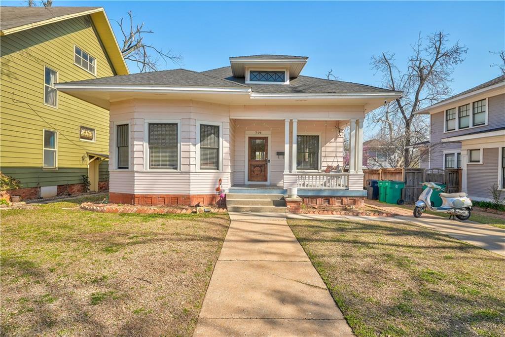HIGHEST AND BEST OFFERS DUE BY 3PM 4/5/21. Enjoy your morning coffee from the porch swing of this darling bungalow situated directly across the street from Perle Mesta Park. This charming home was taken down to the studs in 2014 and completely redone - electrical, plumbing, sprinkler, zoned heat and air and more. Attic was finished out to create master suite large enough for office and sitting area as well. Modern touches are integrated nicely with historic charm throughout. 465sf guest house with private entry and large open deck, spacious bathroom, walk-in closet, w/d hookups and full kitchen - currently rented for $800/mo.