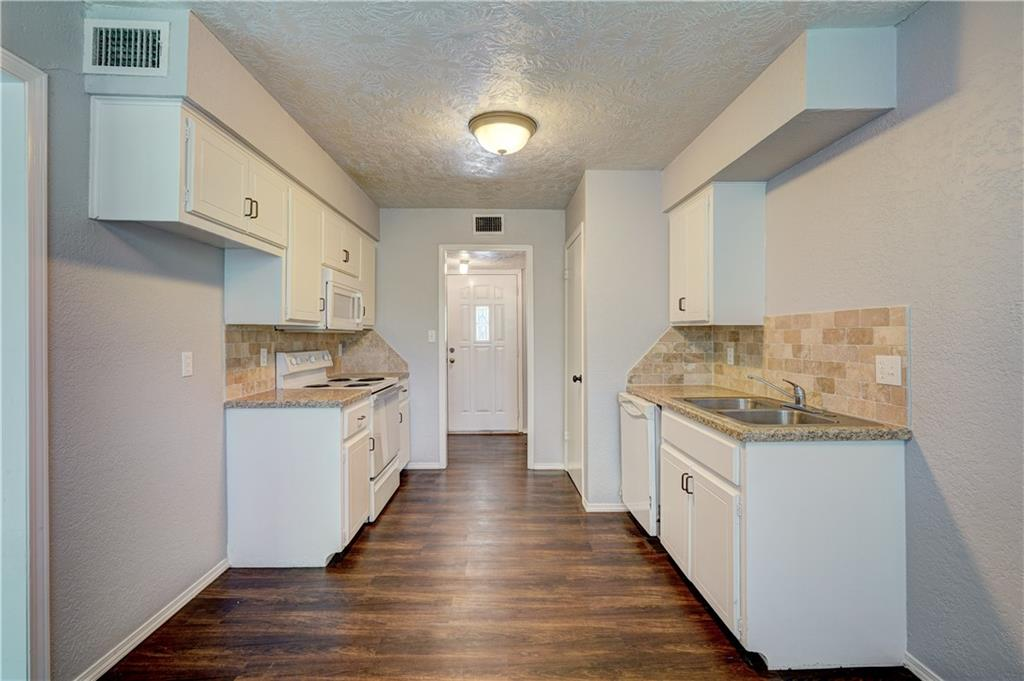 Fully remodeled Condo located so close to OU Campus! This 3 bed, 2 full bath condo is an upstairs unit and has been redone with new carpet, paint, updated kitchen with stackable washer and dryer! You will love the spacious living area complete with a fireplace for those chilly Oklahoma days! The HOA covers WATER, SEWER, TRASH, INSURANCE FOR OUTER AREAS, POOL & MAINTENANCE. The pool area is beautiful and is the perfect place to relax during the hot summer days. There is also a storage area great for storing bikes or any additional items you need a place for. This one is ready to go!
