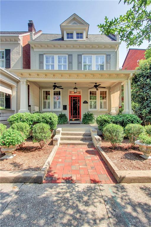A 1925 beauty located in the famous Gas Light Block of the Monument Avenue Historic District.  A superb renovation and addition in 2012 -meticulously maintained the old world craftmanship and details while seamlessly blending with contemporary and casually elegant design.  This property will capture your heart from the original front windows and doors all the way through beautifully designed spaces, french doors, center home courtyard,  contemporary den with stone wall and fireplace, out to the screened porch and onto the fully bricked patio complete with stone firepit, stone seating surround, raised irrigated planting beds, and two car garage.  The second floor is equally as wonderful with a well thought out master suite of two rooms, a hallway to a walk in closet with a custom closet system, master bath with heated marble floors, marble countertops, Italian tile oversized shower, custom cabinetry and lighting.  Four pages of home details are available to an interested buyer as well as the architects blueprints, and a few years of tax abatement.  Market pricing is based on a current appraisal and also available to purchaser.  This one is move in ready!!