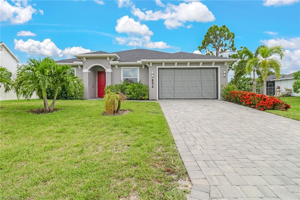 Built in 2017, this home offers all the bells & whistles without the new build wait time! From the moment you step into this immaculately-kept property, you will feel right at HOME!! Offering 4bdrms. & 2baths, this lovely home is situated in the sought-after community of San Carlos Park. The kitchen boasts soft close, white shaker cabinets paired w/ granite countertops & newer backsplash. Plenty of counter/storage space, NEW gorgeous pendant lighting, SS appliances & a cabinet pantry are added perks to this beautiful kitchen! The eat-in area is a comfortably-sized space, allowing for a large dining table. The breakfast bar nicely complements the open-concept floor plan, overlooking the living rm., making it ideal for entertaining! The spacious master bdrm. offers a sitting area & HUGE walk-in custom closet! Additional features include: hurricane impact windows on all front windows & nylon (easy hang) shutters for remaining windows, privacy fence, irrigation system, paver driveway & screened-in paver lanai! This stunning home has PRIME location w/ close proximity to great shopping & dining; less than 5 mins. to Gulf Coast Town Center & less than 10 mins. to FGCU & Miromar Outlets!
