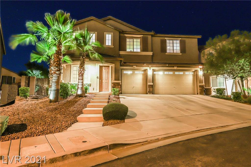 Highly upgraded Lennar home on large lot. Entertainers dream backyard complete with gigantic pool, sheer decent waterfalls, fully automated remote for all pool functions, built-in BBQ, large putting green, bocce court, firepit, lush landscaping & accent lighting. Custom window coverings, accent walls, real wood floors, soft water system, epoxy floor & mirrored walls in garage. Gourmet kitchen with stainless steel appliance and granite countertops.