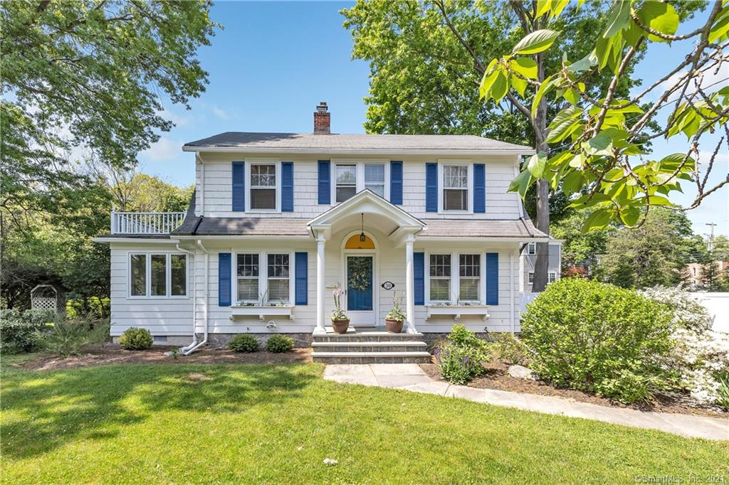 Classic Colonial located in the heart of the sought-after Stratfield neighborhood. This charming home features original details including hardwood floors, built-ins and french doors. As you enter you are greeted by the oversized foyer which leads you to the formal dining room with built-in china cabinet, livingroom with wood-burning fireplace and french doors leading to the screened-in porch. Not to be missed off the living room is the perfect cozy study or home office. The kitchen features new stainless steel appliances and opens to the family room with skylight and to an adjacent full bathroom. The second floor offers the master bedroom with updated full bath and walk-in closet and two additionalbedrooms that share a full bath. The level backyard is wonderful and great for entertaining with the oversized 2-car garage, screened-in porch and deck. Updatesinclude exterior painted, energy-efficientboiler, master bath and walk-in closet, new paved driveway with belgian block and professionally landscaped.Jackman Avenue is a beautiful tree lined street convenient to the train, shopping and highways...you will not want to miss this home!!