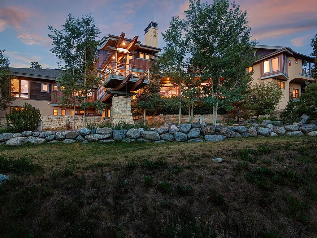 This stunning mountainside estate sits on 1.78 acres and boasts 360 degree views of the Ten Mile Range, Breckenridge Ski Area, and Baldy. Backs to national forest and offers ski in, ski out access via the Burro Trail. Other features include zen garden waterfalls, indoor/outdoor main living space, large rooftop deck, and a massive fenced yard. Recent updates include new bunk room (4 queen beds!), remodeled top floor rec room with bedroom. You've never seen a mountain home like this before!
