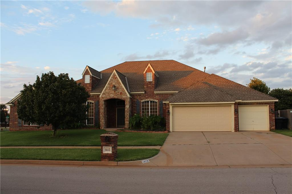This 4 bed 3 bath home in the beautiful Fenwick neighborhood will give you plenty of room for the growing family.  Located in the Edmond school district and very close to Quail springs mall and easy access to Kilpatrick for you commute to the OKC metro. The kitchen has all the room and storage for the Chef of the family.  Has a large office and media room for the family movie nights.  Make a point to add this home to your list of homes to view. Buyer needs to verify schools.