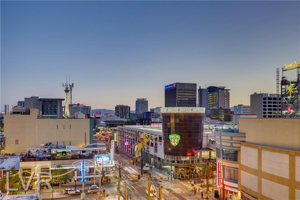 Remarks Stunning high rise condo looking out on world famous Fremont Street and the Las Vegas Strip. Steps away from all of the action. This condo has it all! Beautiful amenities, rooftop pool and gym. Perfect for the lock and go lifestyle. This unit has one of the largest balconies in the building. Enjoy entertaining your friends in the large kitchen while looking out upon the Vegas Valley and the Strip. This is one of the most sought-after floor plans in the building and rarely becomes available. Do not wait! This one won't last.