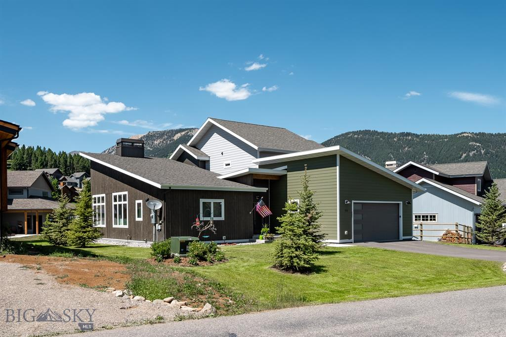 Want to be close to all the amenities of the Big Sky Town Center?  Then look no further as this 2483 square foot home is located in the heart of Big Sky. With three bedrooms, two and a half baths and a large bonus room to be used as an additional bedroom or an office this home is one you have to see. Bike, hike, or take a run on the nearby trails, and relax on the patio after a fun day in the wide open spaces of Big Sky, MT. Top it off with fit and finishes which include wood flooring, wool carpet in bedrooms, granite countertops, tile showers...this gem will not last long!  Call today to set up a showing.