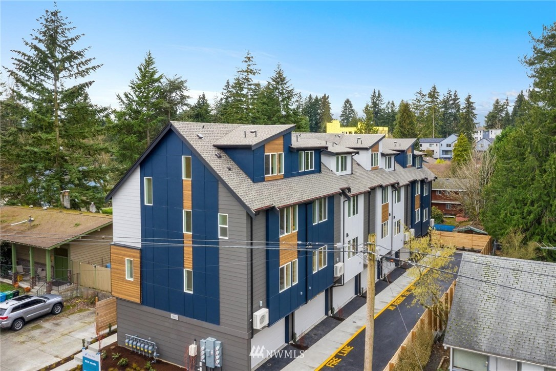 Blue Fern Development proudly presents the Meridian West Townhomes in Shoreline's Echo Lake neighborhood. LAST HOME LEFT, end unit, 1605 sqft, w/3 bdr, 2.5 bath, & spacious 2-car garages. Live large, w/2 different open living floor plans & storage throughout. Enjoy endless options for the flex space on the 4th floor! Built 4 Star Green leaving a lower carbon footprint & monthly energy savings. Invest in a growing neighborhood w/a longstanding top-rated Shoreline School District & future Light Rail Sation. Quick commute to Sea via car or E-Line/Metro bus. Walking distance to Starbucks, Bartell Drugs, & Cromwell Park. Easy access to grocery, Costco, restaurants & more. Short adventure to Richmond Beach, Boeing Creek Trail, & Interurban Trail.