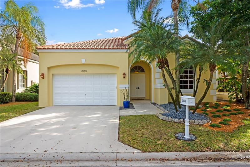 Three large bedrooms plus an open den/office in the beautiful gated community of Captiva Cay.  Single story home with 12' ceilings, travertine flooring in main areas and engineered wood in the bedrooms.  Large open kitchen with wood cabinets, granite countertops and stainless steel appliances.  Great lake views from the fully fenced backyard.  Second and half bathroom have been updated.  Large laundry room inside the home.  Roof replaced in 2013.  Home just painted inside and out.  Located just minutes from the Town Center and I-75 with the Country Isles Park right at the entrance to the community.  Association includes all landscaping; front, back, sides, trees, bushes, fertilizer, mulching and sprinklers.