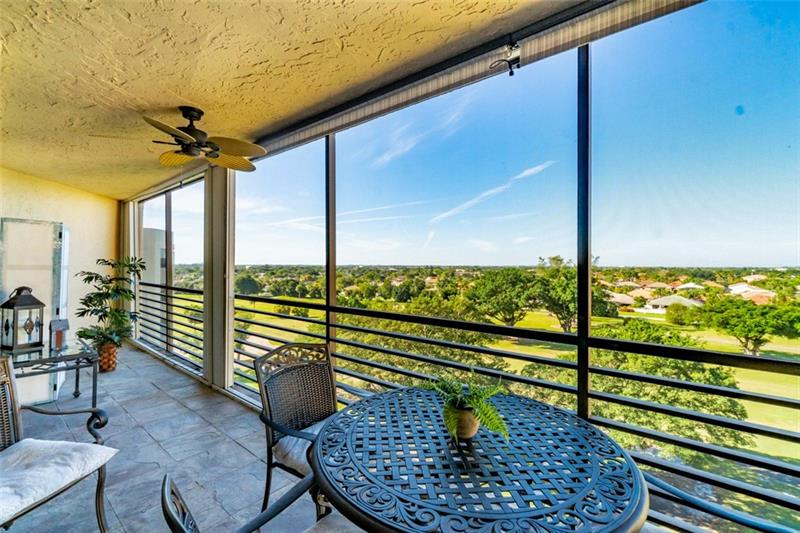 WOW!  ABSOLUTELY GORGEOUS PENTHOUSE! COMPLETELY REMODELED 2/2!! FABULOUS VIEWS ON THE GOLF COURSE & SUNSETS!! EXTRA LARGE TERRACE 45'X7' WHERE ALL ROOMS OPEN OUT ONTO WITH SLIDING GLASS DOORS!  TURN KEY FURNISHED! ACCORDION HURRICANE SHUTTERS! OPEN KITCHEN WITH STAINLESS STEEL APPLIANCES & WINE COOLER! WASHER/DRYER! LARGE BEIGE CERAMIC TILE THRUOUT! ASSOC SAYS 55K NET INCOME LAST 2 YEARS! +55 HOPA, 6 MOS MAINT, 20%DOWN. MAIN INCL WATER, CABLE TV, PEST CONTROL, CULTURAL CENTER OFFERS BOWLING, BILLIARDS, GYM, TENNIS, & LOTS OF ACTIVITIES!