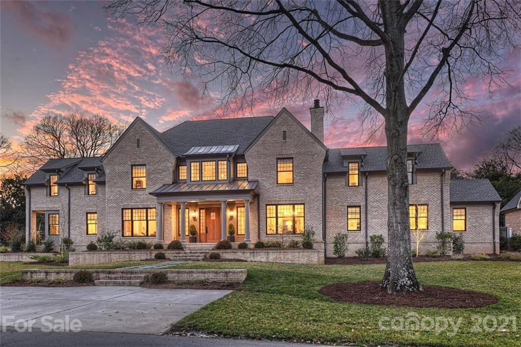 """Stunning high end custom home in highly desirable Old Foxcroft built in 2019. Rare opportunity located on beautiful Foxcroft Green with park view & spacious yard. Fabulous architectural detail & finishes throughout! Dual staircases, six inch white oak hardwd flooring, custom milled white oak paneling at front stair tower & breakfast. Gourmet kit w/solid white oak island, inset cabinetry, leathered quartzite ctops & backsplash. 48"""" Wolf dual fuel six burner range w/plastered hood. Column Subzero refrig & freezer. Butler's pantry, Laundry up & down, Drop Zone. Family rm w/custom built-in LED lit alcoves, white oak beams, Isokern FP w/gas logs. Three exterior doors off Family Rm lead to ecovered rear terrace & amazing 846 sqft outdoor living room w/FP & vaulted ceiling. Main level Owner's suite w/custom built-in bench, 2 walk-in custom closets & bath w/vaulted ceiling, soaker tub, marble shower & dual vanity. Gorgeous 0.52 acre professionally landscaped yard! Spectacular home & location!"""