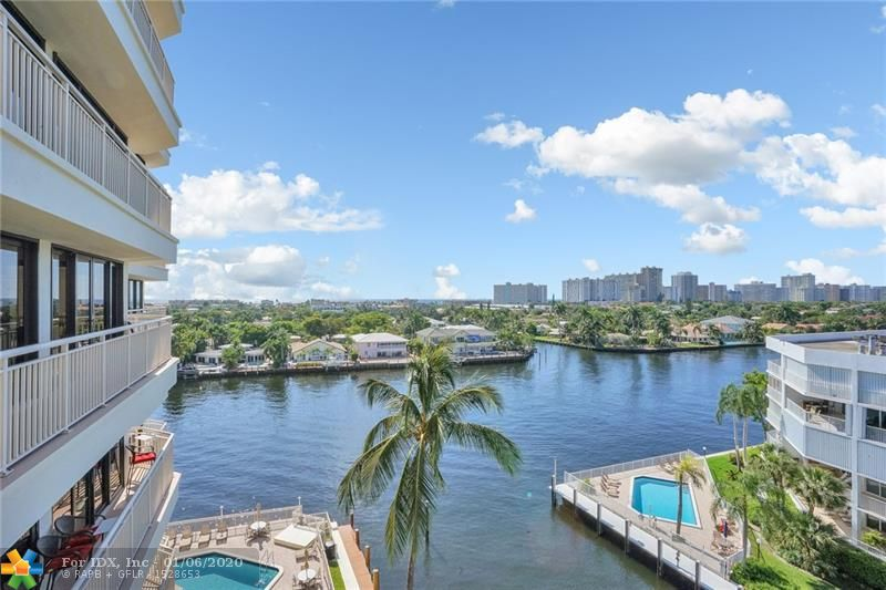 Enjoy spectacular intracoastal and ocean views from this 2 bedroom 2 bath condo. SE corner unit with wrap-around balcony. Impact windows/doors. Light and bright open floorplan with tons of natural light. Spacious bedrooms both with en-suite baths. Washer/dryer in unit. Amenities include pool, bbq area with seating and fitness center. Pet friendly. Dock space available $3.50/foot.