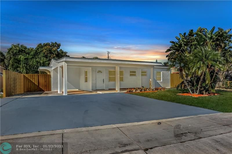 BEAUTIFULLY REMODELED MODERN 3/3-1/2 HOME IN OAKLAND PARK! BRAND NEW 2021 ROOF, NEW HURRICANE IMPACT WINDOWS, CUSTOM KITCHEN, BATHROOMS, FLOORING, AND RECESSED LIGHTING THROUGHOUT. TOP OF THE LINE MATERIAL AND DETAILS THROUGHOUT THE PROPERTY. KITCHEN FEATURES QUARTZ COUNTER-TOPS AND BRAND NEW S/S APPLIANCES! FRESHLY PAINTED INSIDE & OUT + NEW LANDSCAPING! HURRY, THIS HOME WILL NOT LAST.