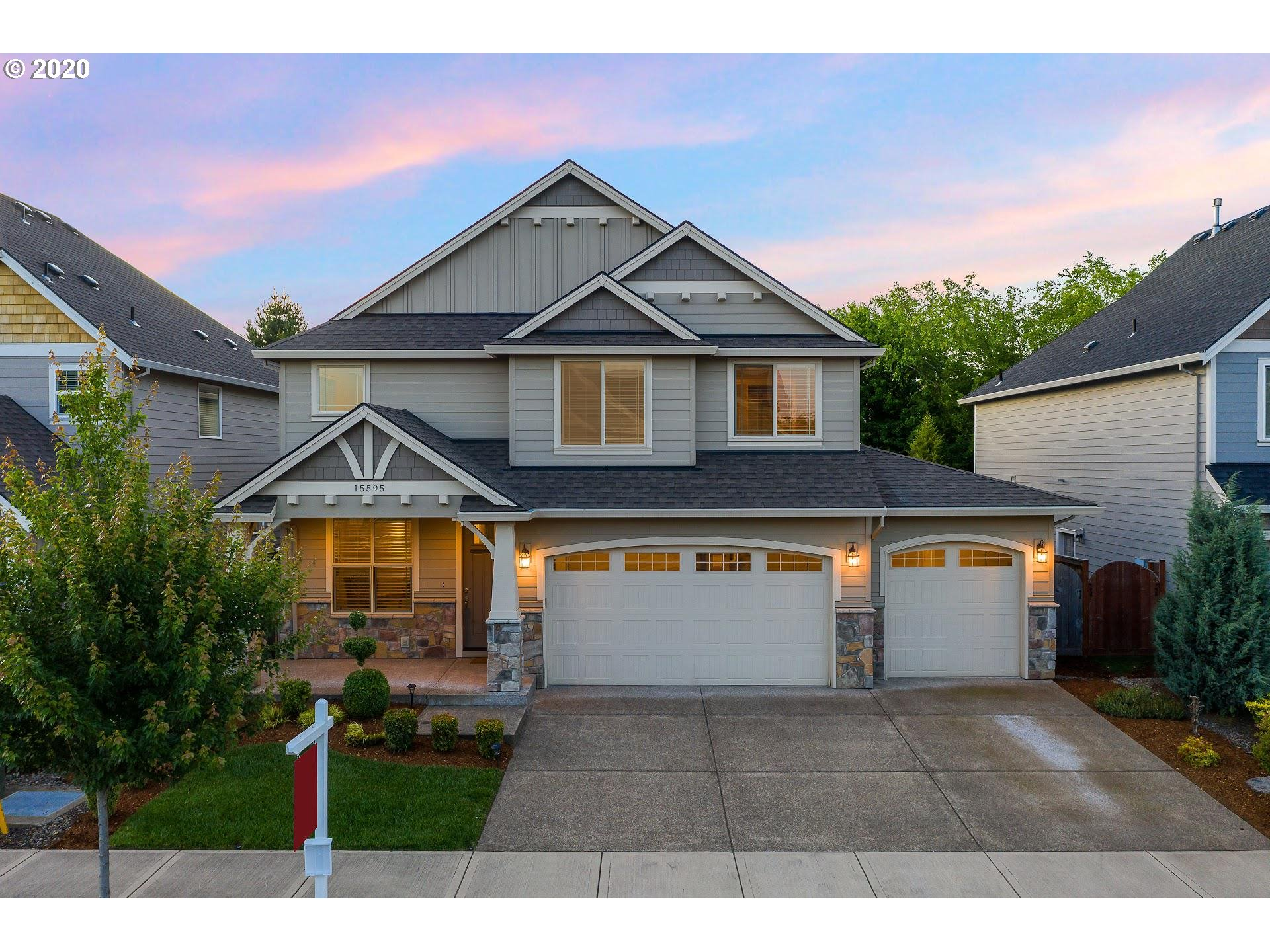 Turnkey better then new multi-generational home w/ amazing value! 4 bed/2.5 bath open & grand floor plan in desirable Hidden Falls community (nature park & pioneer park steps away)! Den/office on main, bonus room upstairs, RARE 4 car garage + sprinklers. Low maintenance & NO HOA!  W/D/F & A/C Included.  4 mins to New Seasons/HV Town Center, 8 mins to I-205, 20 mins to PDX!  See Floorplan/3D tour!  OPEN SUN 12-3PM & MON 1-3PM.