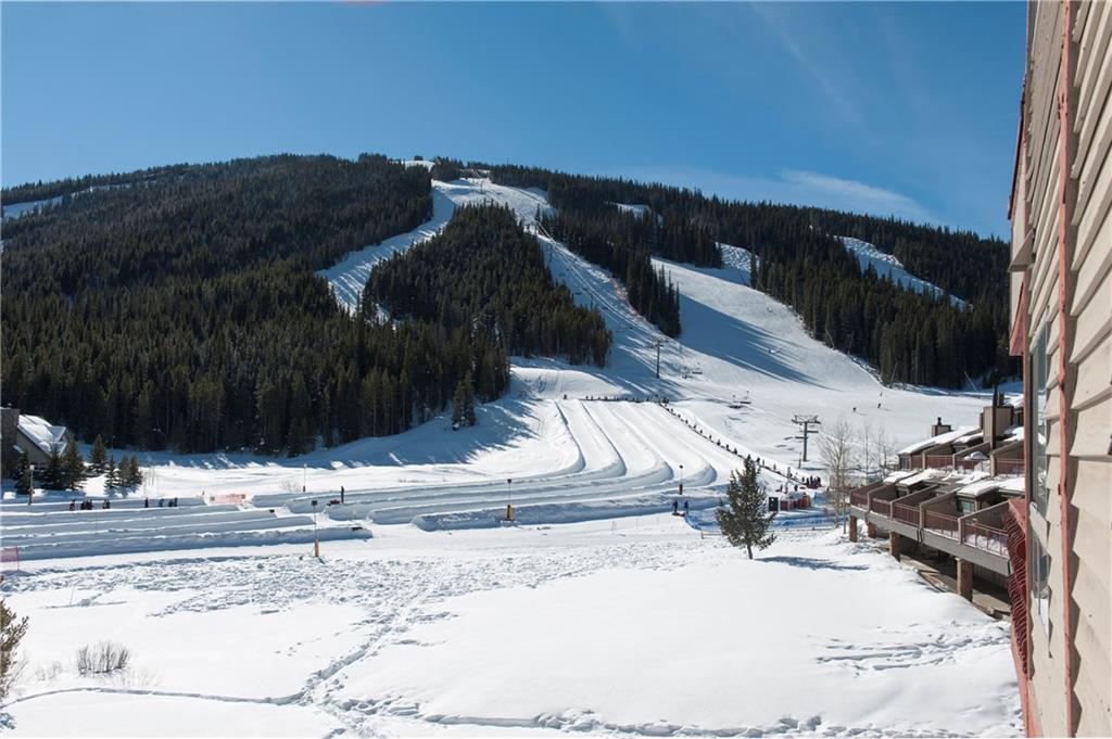 Great location is adjacent to the Super Bee Lift & Copper Mountain's Tubing Hill!  (Both shown in this photo)
