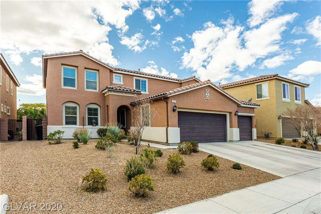 Beautiful, spacious 5 bedroom home located in gated community in Aliante. Home features extremely large loft, Sparkling pool, 3 car garage, walkthrough pantry and massive laundry room! 3638 square footage of greatness! Kitchen has recessed lighting, beautiful backsplash with gorgeous island with granite everywhere. Home also has solar panels on the roof and reverse osmosis system! The only thing missing is you!